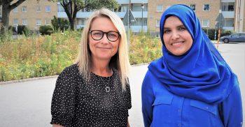 Malin Bejram Ellström och Hanan Qadan Rababah är språkutvecklare i det pedagogiska utvecklingsteamet för förskoleområde Öster.