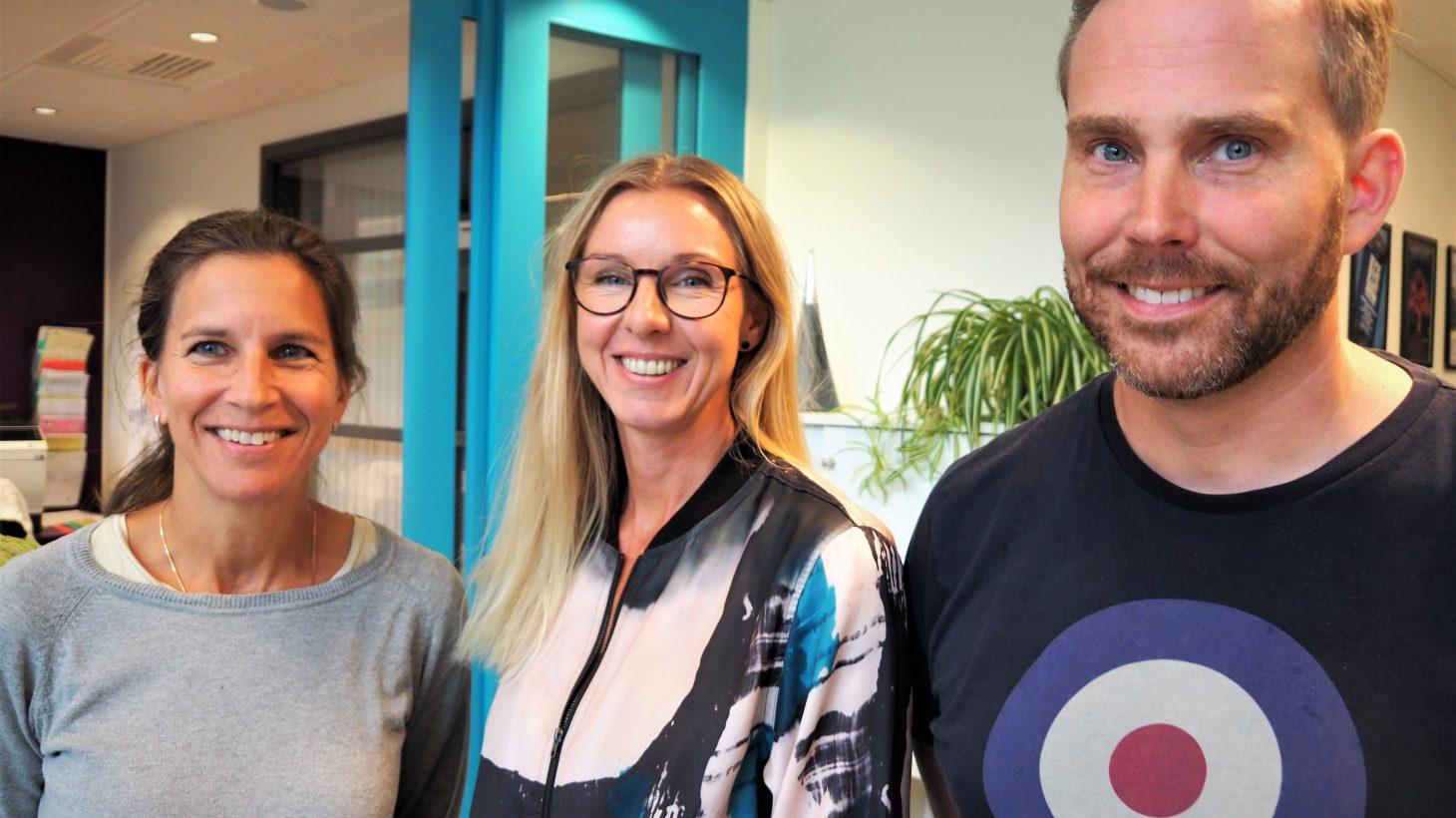 Sara Böök, Susanne Ekentoft, Daniel Sköld, lärare Malmö latinskola.