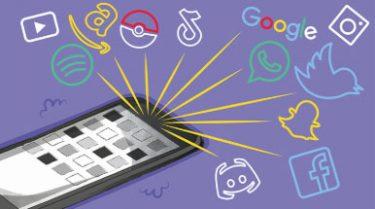 Illustration över att en mängd tjänster och appar har tillgång till information om dig.