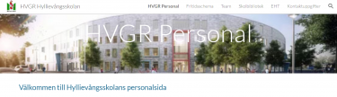 Skämavbild över personalsida på Hyllievångsskolan.