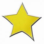 Guldig stjärna.
