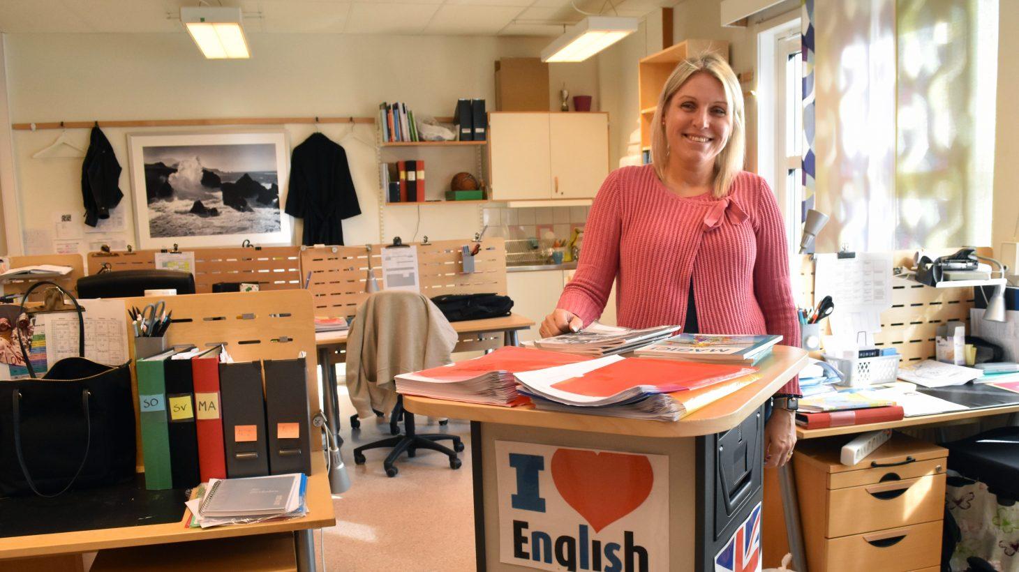 Malin Arvidsson, lärare i engelska i årskurs 2–6 på Munkhätteskolan i Malmö.