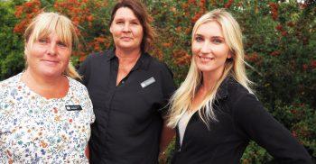 Annelie Niklasson, Lotta Christansson och Sandra Lagerholm, barnskötare, förste förskollärare på Nicke Pings förskola.
