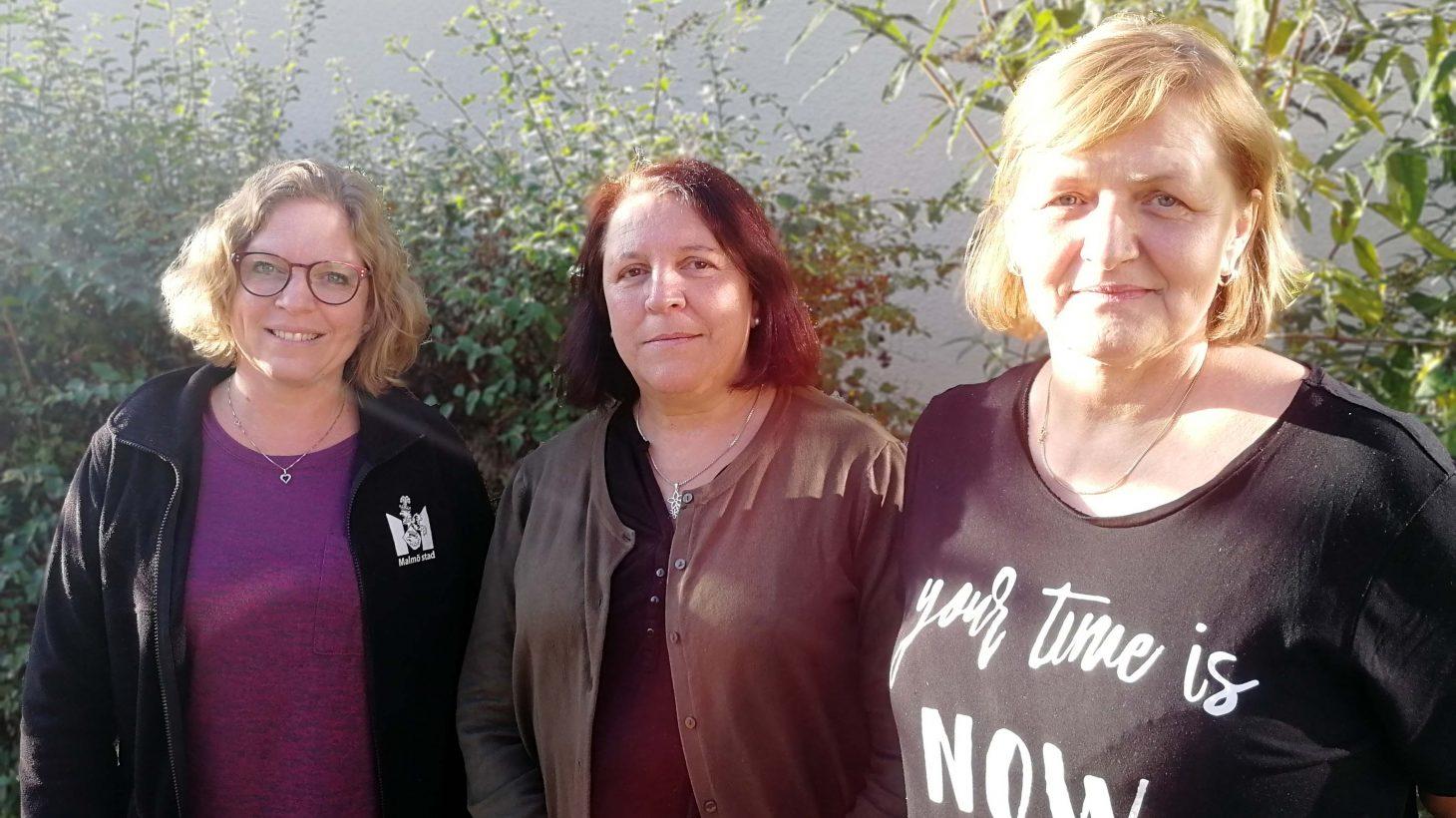 Annika Otterhag, Graciela Falero och Esma Krupic, förskollärare Pilevallens förskola.