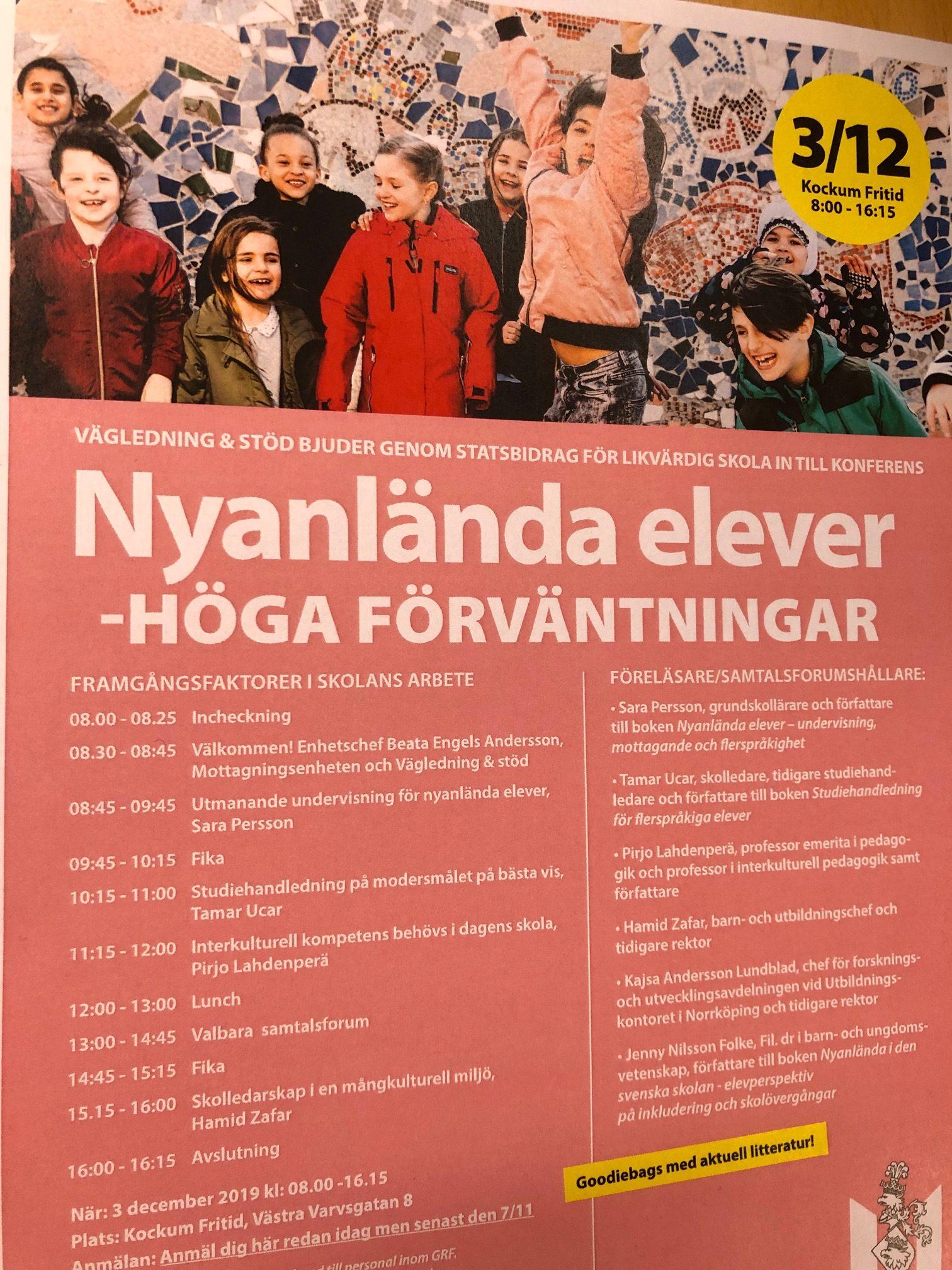 PDF över program för konferens.