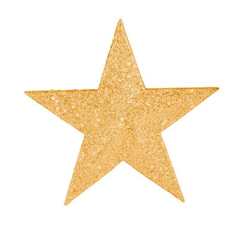En glittrig guldstjärna.
