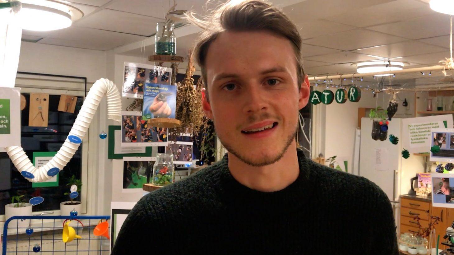 Arvid Wahlqvist, barnskötare på Maryhills förskola.
