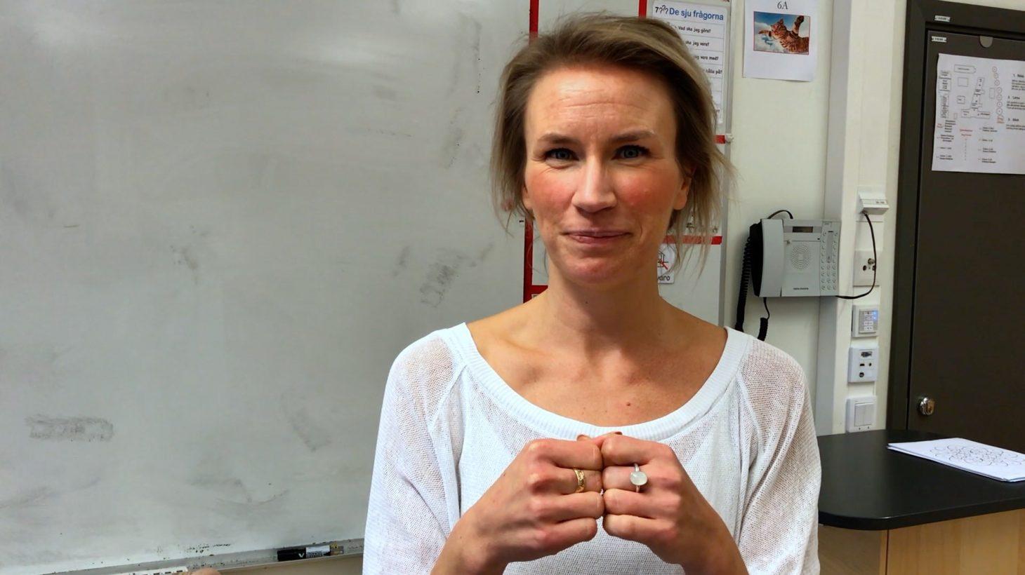 Heidi Uddeskog, musik- och engelsklärare på Lorensborgsskolan.