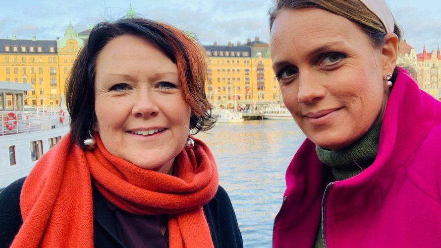 Nina Svensson och Ulrika Wirgin i Stockholm.