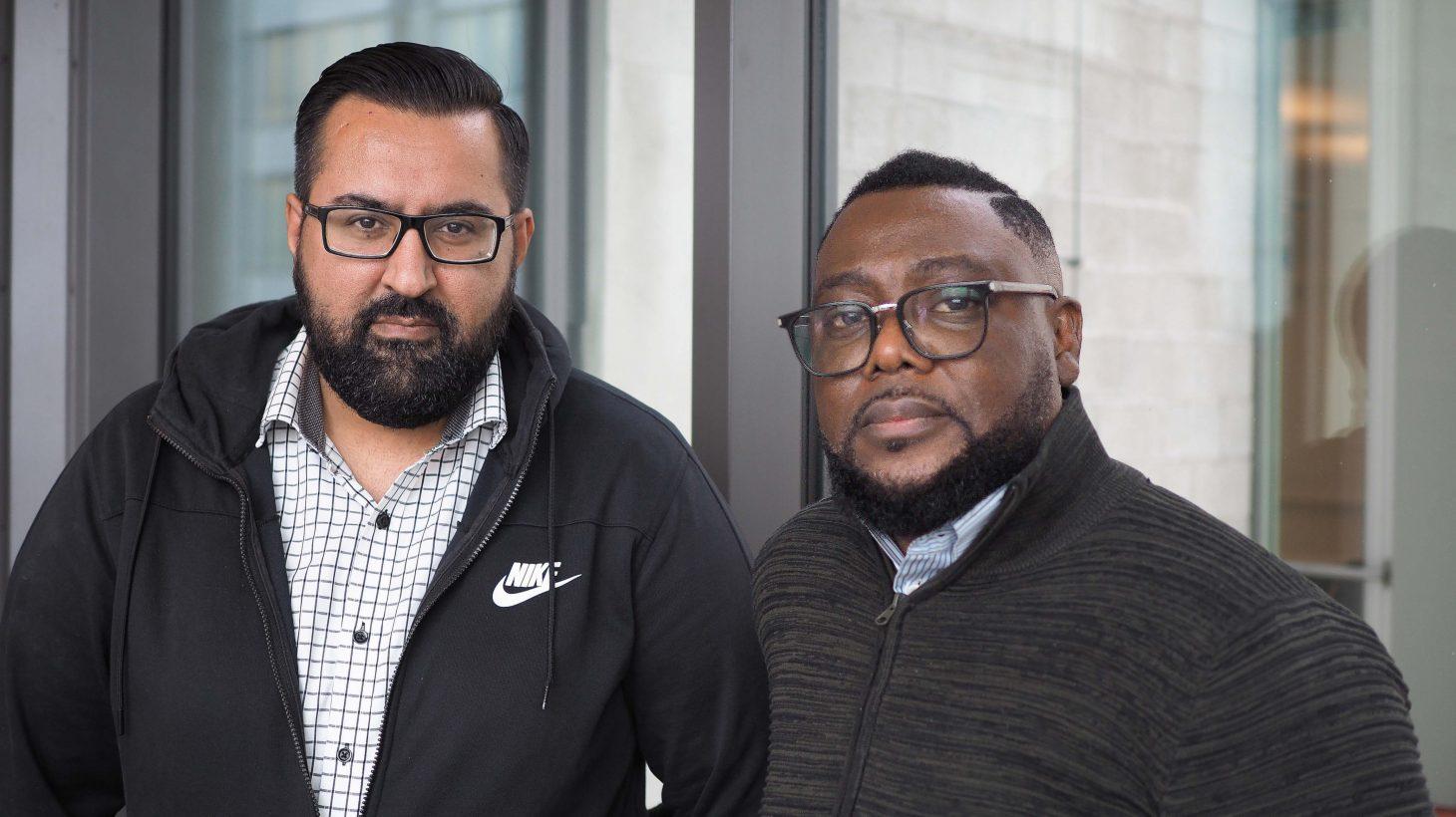 Rafi Farouq och Felix Unogwu.