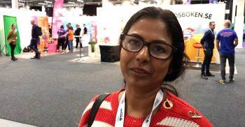 Sumita Bhattacharyya, teknik- och matematiklärare på Oxievångsskolan.