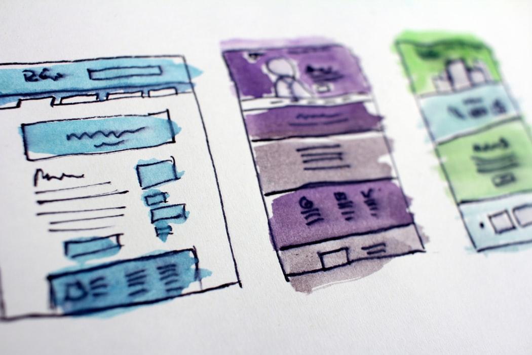 Tre tecknade rektanglar.