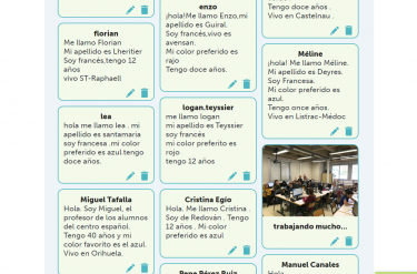 Presentationer på olika språk.