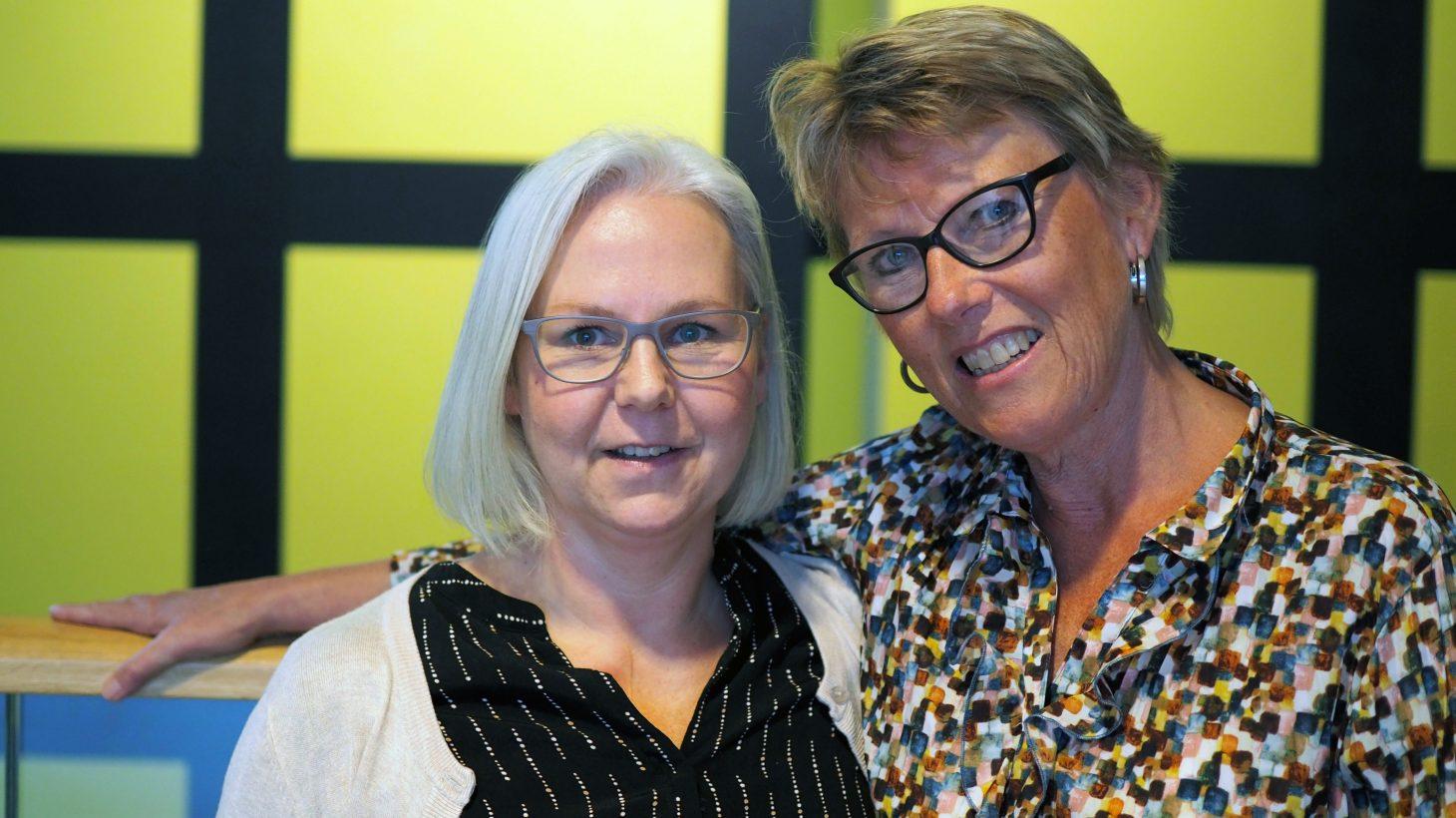 Åse Råstam och Lisbeth Bern är lärare på Komvux.