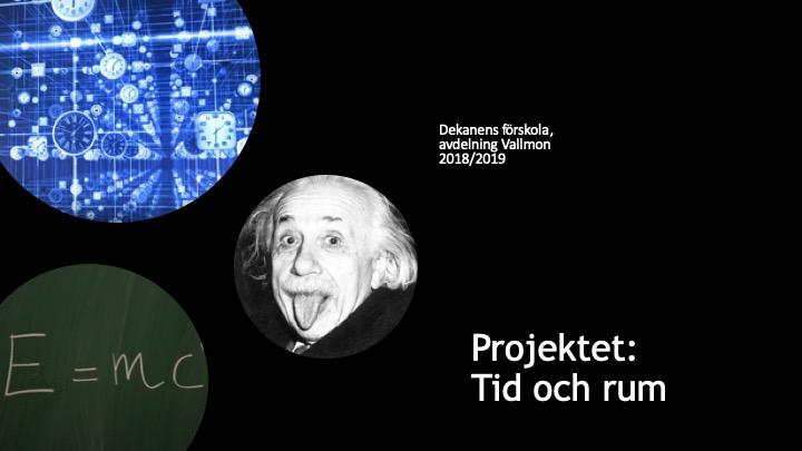 Einstein tillsammans med formler.