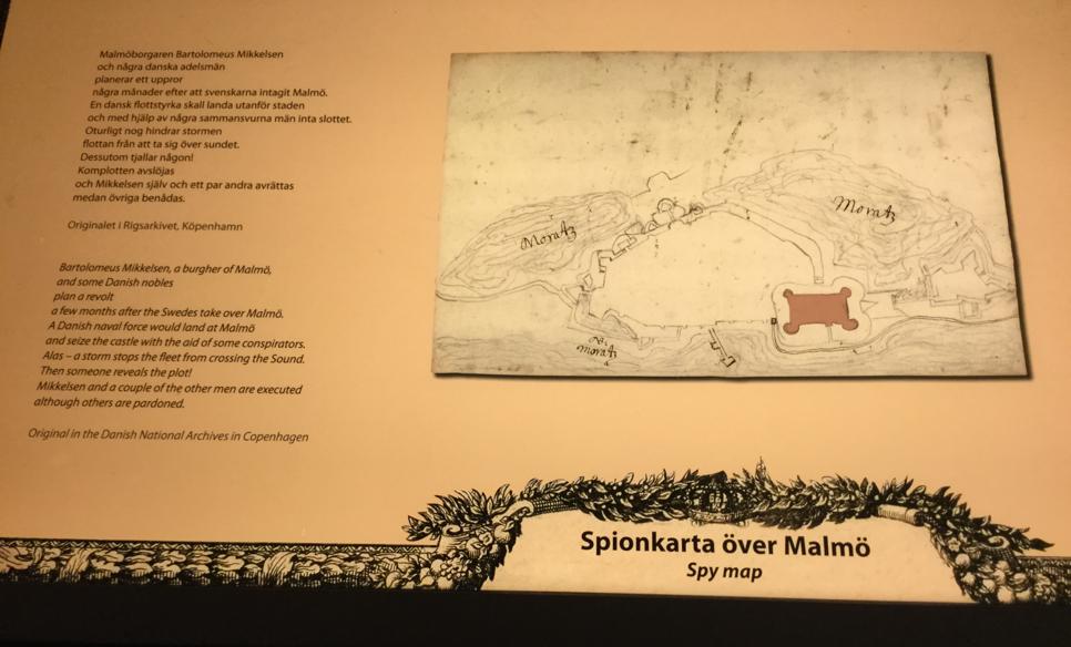 Spionkarta över Malmö.
