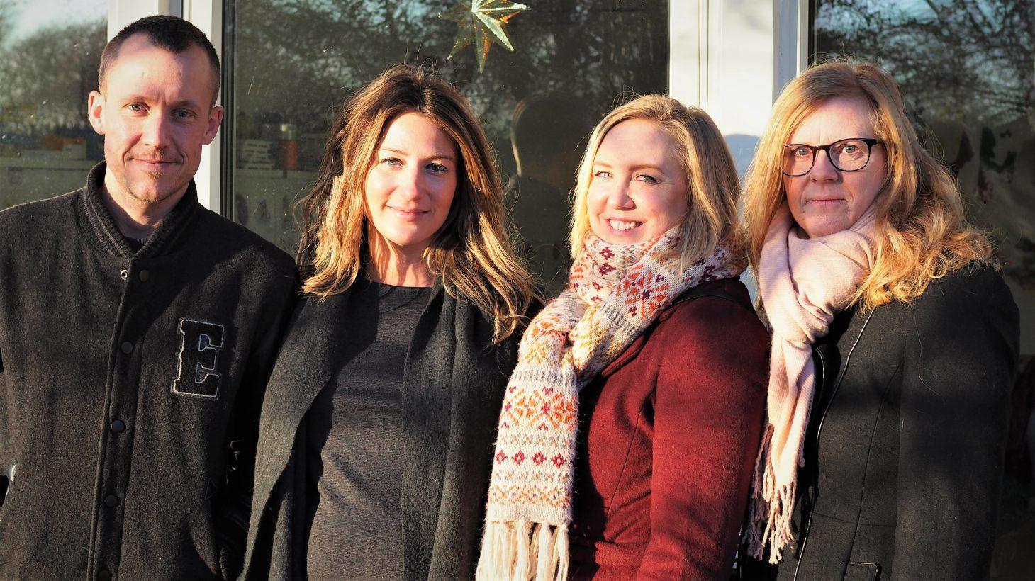Patrik McGlinn, Teresa Visljev, Sofia Kockum och Lena Sjöholm,förskollärare och barnskötare i Malmö stad.
