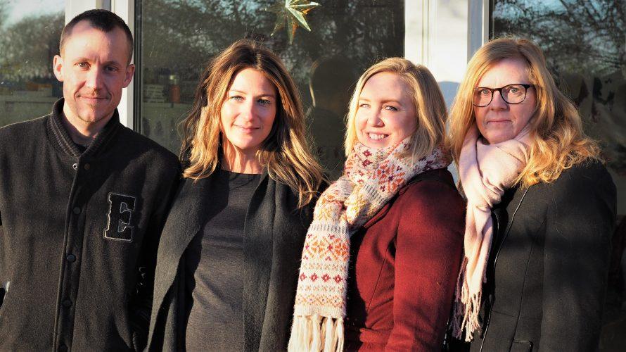 Patrik McGlinn, Teresa Visljev, Sofia Kockum och Lena Sjöholm ler mot kameran.