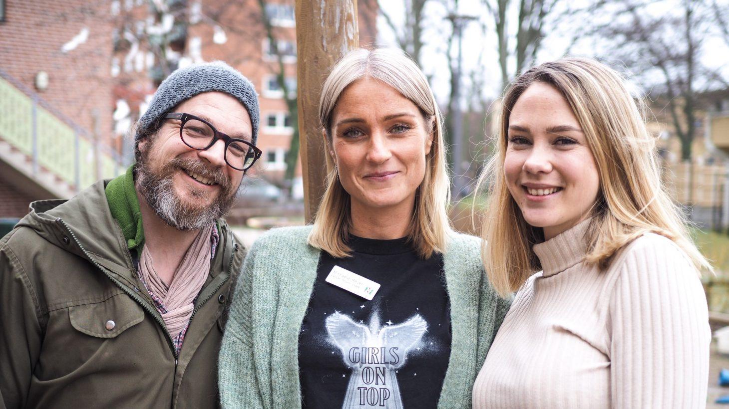 Lars Lindén, Michaela Beijer och Rebecca Norgren.