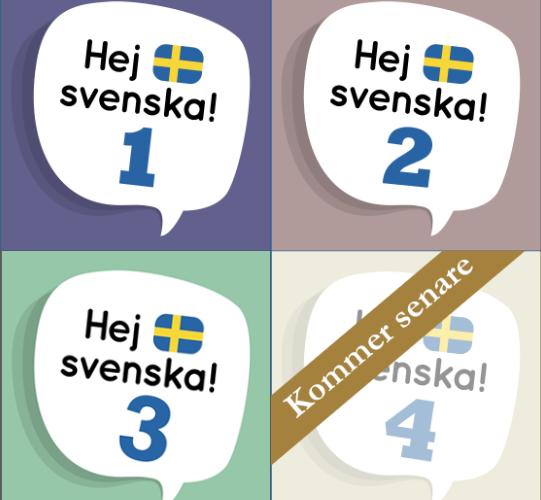 Bild på Hej svenskas olika steg.