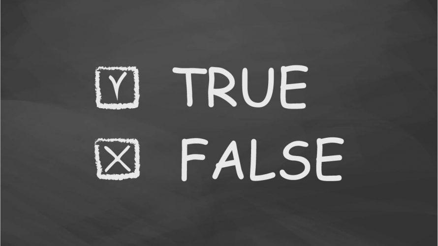 True eller false står det på en griffeltavla