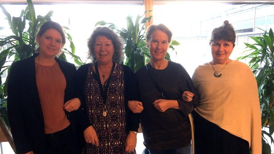Elisabeth Olsson, Emilia Vainonen, Eva Gonner och Lena Ennemuist, studie- och yrkesvägledare på Komvux Malmö.