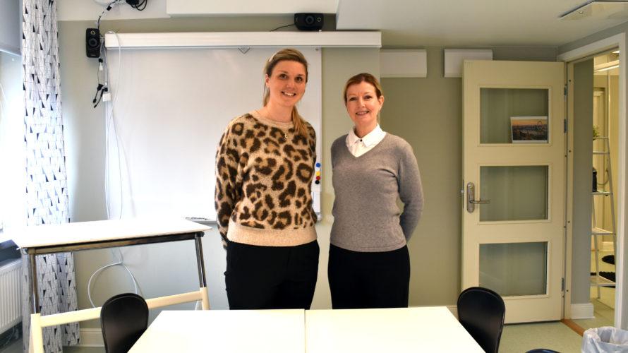 Marie Lilja, samordnare för APL på Hotell och turismprogrammet och Cecilia Nordin, programsamordnare på Hotell och turismprogrammet.