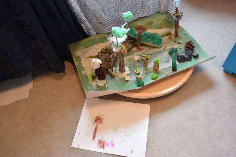 Modellbygge föreställande en park.