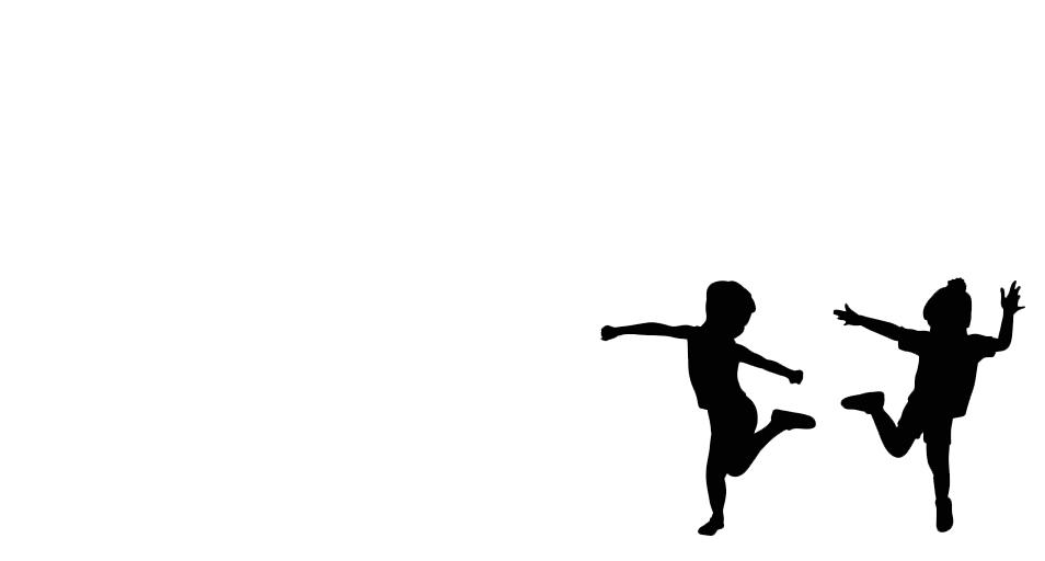Två barnskuggor dansar.