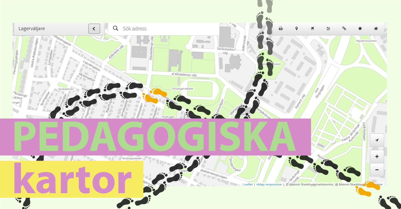 """Bilden visar en karta med texten """"Pedagogiska kartor"""""""