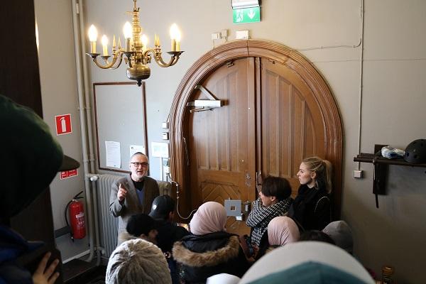 Visning av Malmö synagoga.