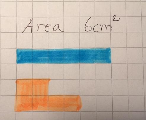 En area behöver inte vara en rektangel utan kan anta olika former.