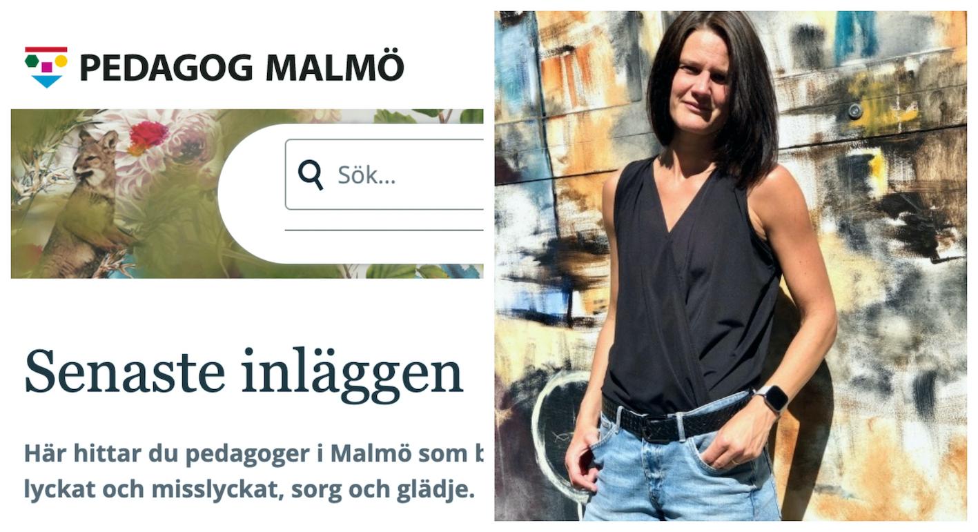 Skärdump från Pedagog Malmö och Linda Brundin, bloggskribent.