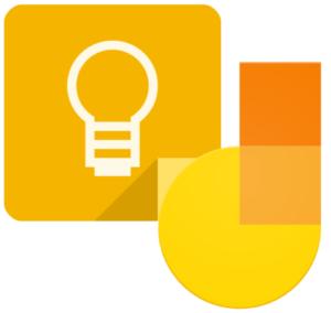 Logotyper för google keep och jamboard.