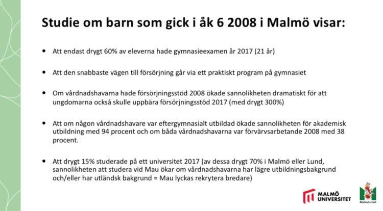 Bilden visar resultat från en studie om elever i årskurs 6 2008.