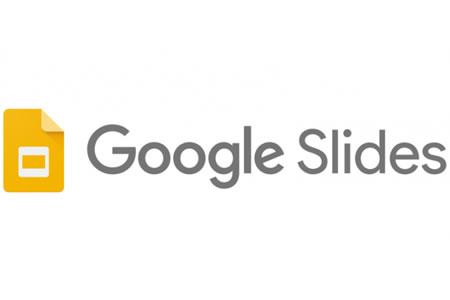 Logotype för google slides.