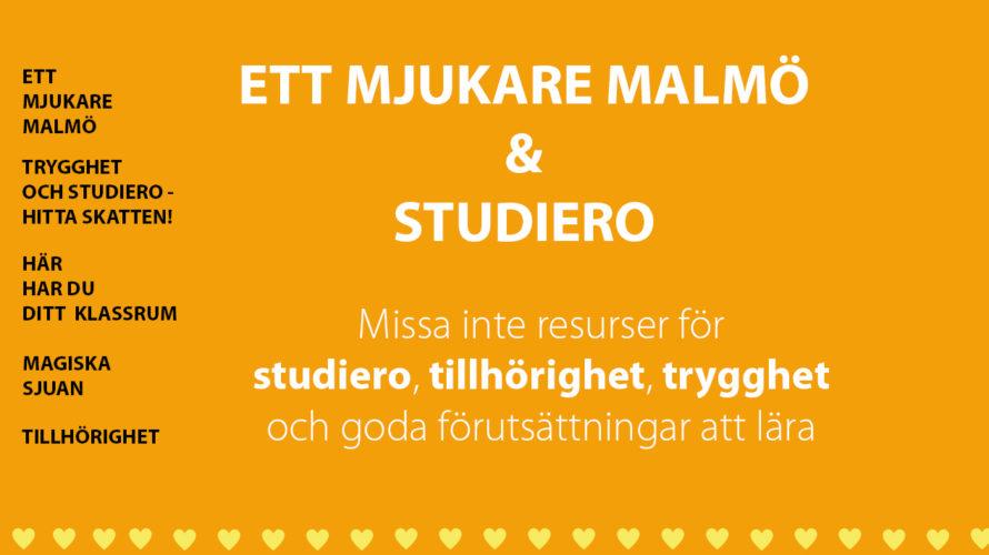 """Presentation där det står """"Ett mjukare Malmö och studiero""""."""