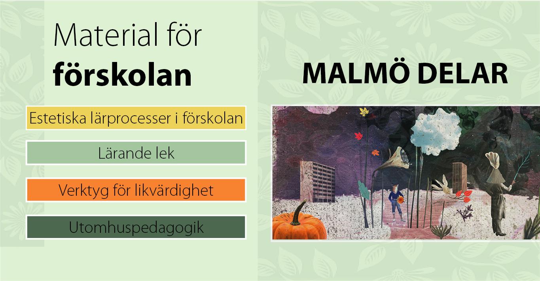 Rubriker för material för förskoleklass på Malmö delar.
