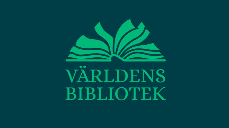 Logtyp för Världens bibliotek.