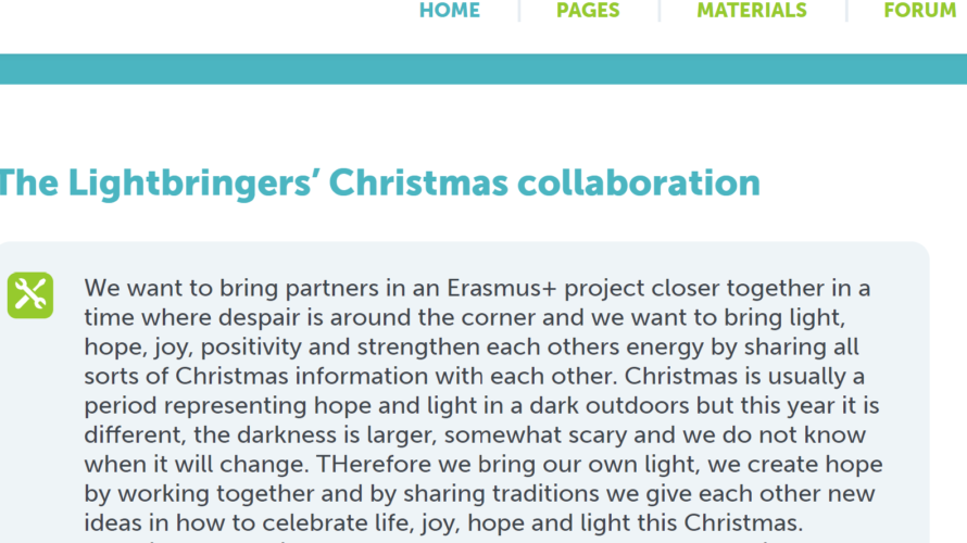 Skärmdump från e-twinningsdhemsida.