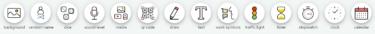 Classroomscreen ikoner