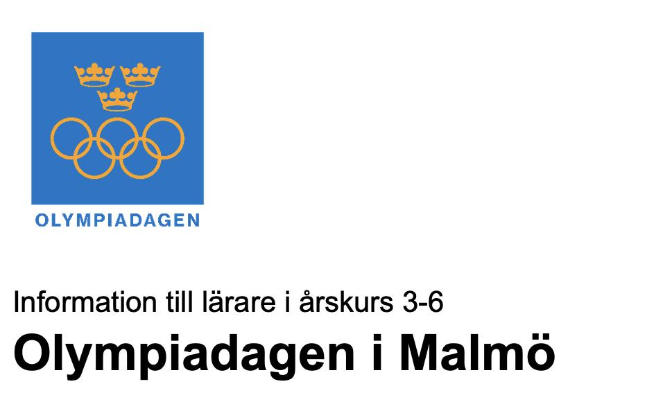 Inbjudan till Olympiadagen