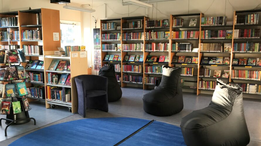Sköna säckar att sitta i i bibliotek.