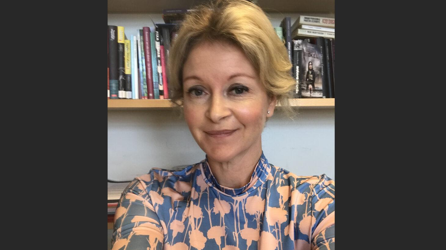 Porträttbild på Malin Zetterberg.
