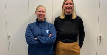 Ann-Sofi Bodin och Therese Samuelsson.