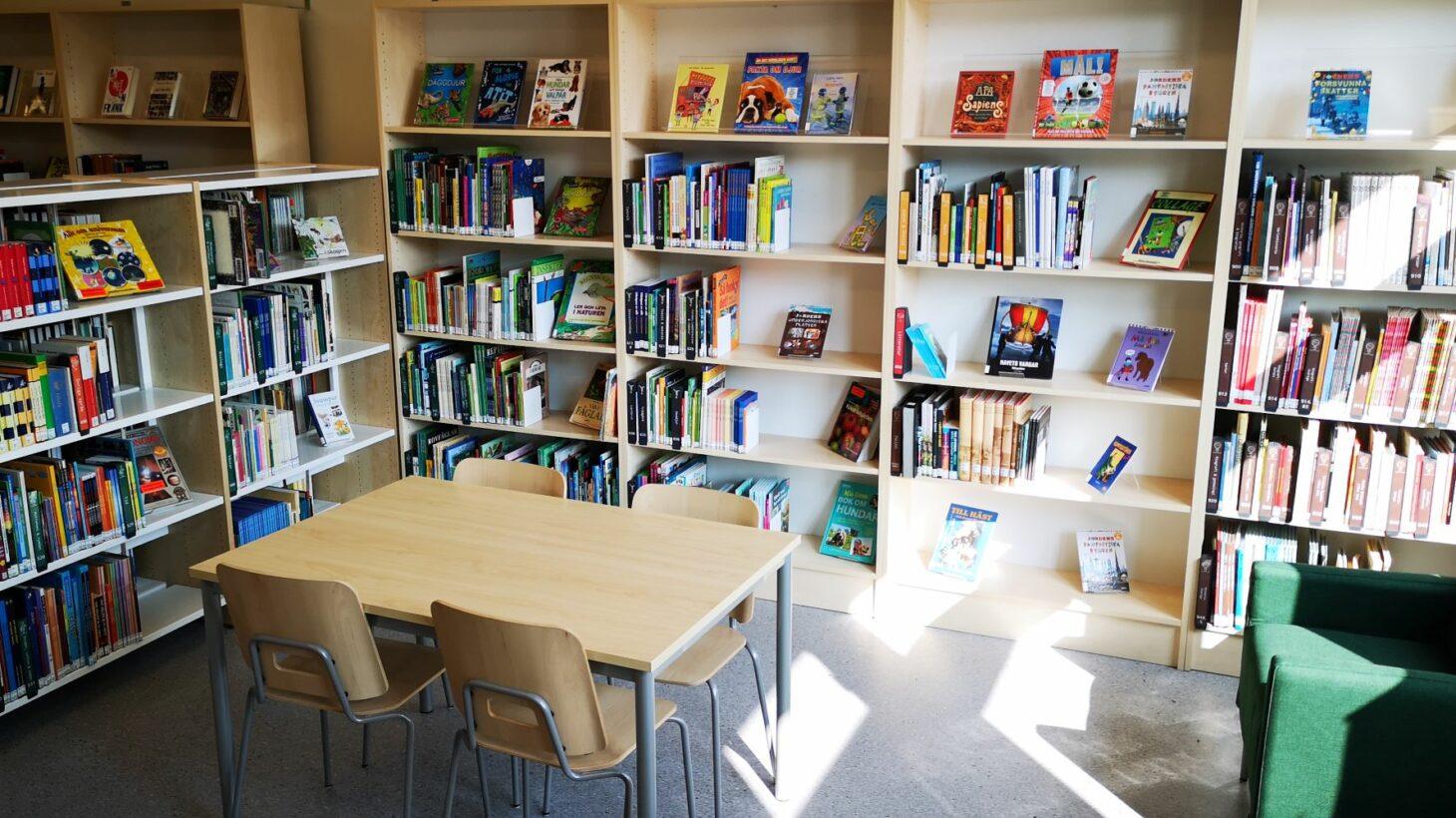 Kryddgårdsskolans skolbibliotek.
