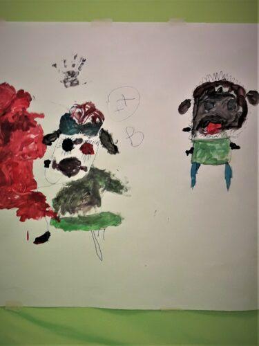 barns ritade figurer