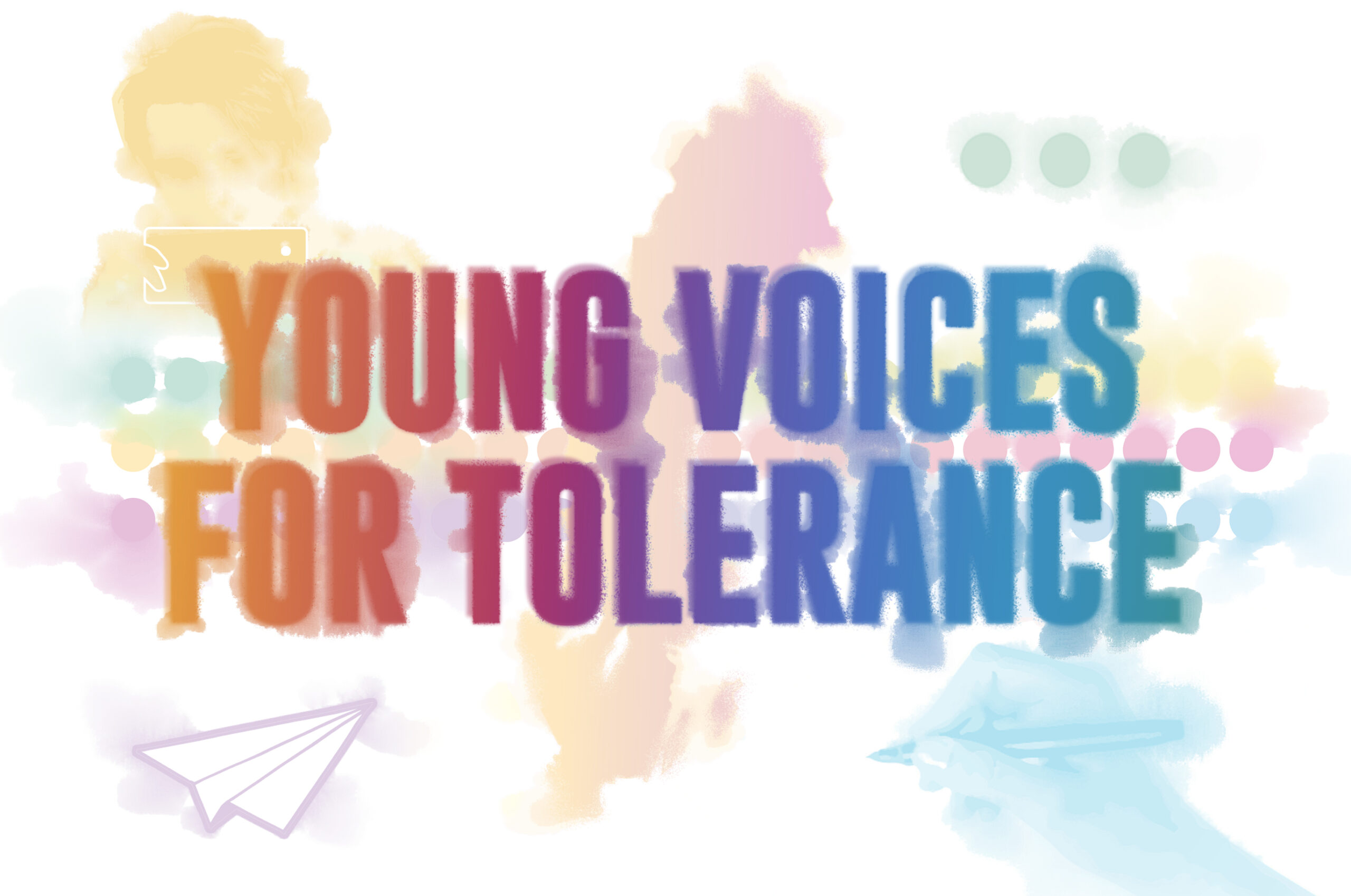 Bild med texten Young voices for tolerance