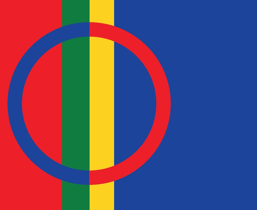 Den samiska flaggan.