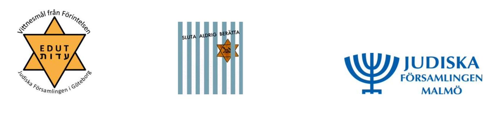 Logotyper för judiska församlingen i Göteborg och Malmö.
